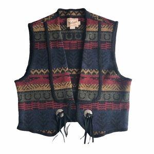 Vintage Woolrich Women's Wool Western Blanket Vest